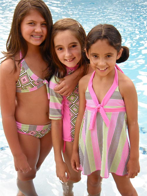 girls fashion swimwear crafted swimsuits